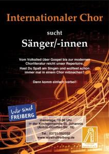 Der Internationale Chor Freiberg sucht neue Sängerinnen und Sänger